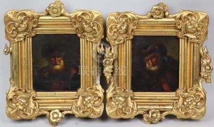 Ecole allemande vers 1800, suiveur de Dietricht. Portrait d'homme au chapeau de
