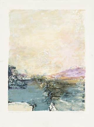 赵无极(1921~2013) 抽象 镜心 版画