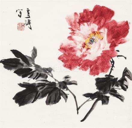 王雪涛(1903~1982) 牡丹 立轴 设色纸本