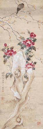 陈之佛(1896~1962) 花鸟 立轴 设色纸本