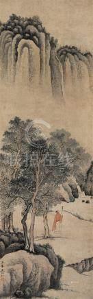 文伯仁(1502~1575) 山水 立轴 设色纸本