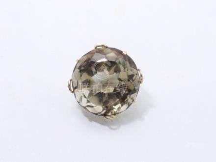 Pendentif en or 750 millièmes, orné d'une importante citrine ronde facettée en