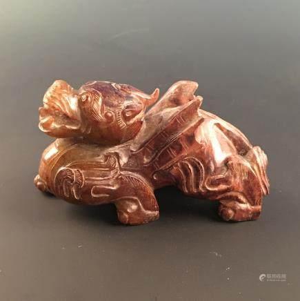 Chinese 'Ruishou' Jade Figure