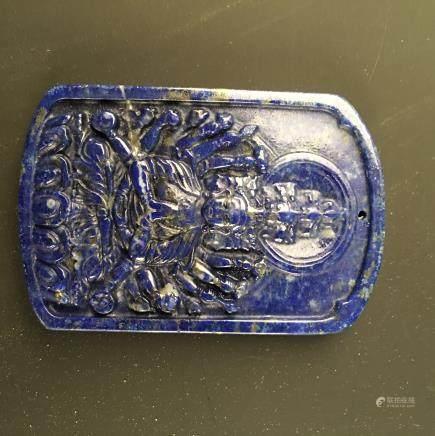 Lapis lazuli Buddha Pendant