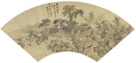 張照 1691 - 1745 松壑幽泉