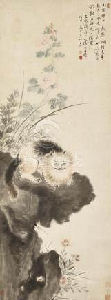 華喦 1682 - 1756 貓石圖