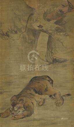 高其佩 1672-1732 臥虎