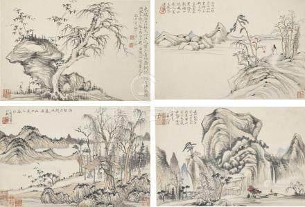 黎簡 1747-1799 四時風景冊