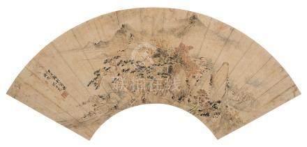 沈士充 1591 - 1691 秋林圖