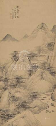 黃易 1744-1802 秋山蕭寺