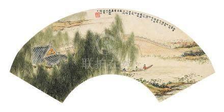 吳湖帆 山水 扇面