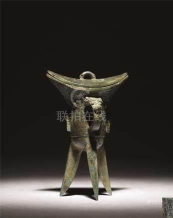商-周 青铜兽面纹角