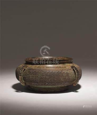 战国 青铜僰刺纹瓿