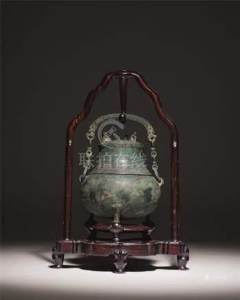 汉 青铜提梁壶