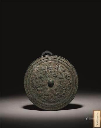 汉 青铜神人禽兽纹镜