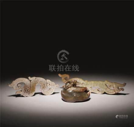 西周-汉 古玉收藏 (一套共五件)