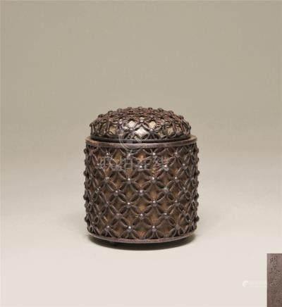 江户时期 铁宝连花香炉