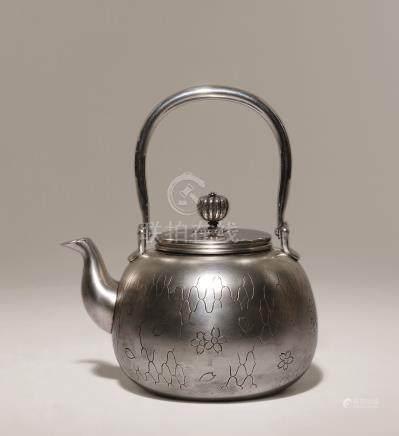 纯银网纹汤沸