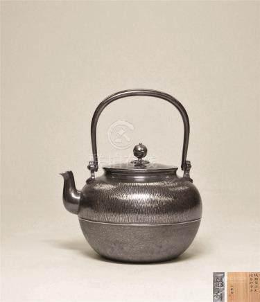 纯银望月形锤目打汤沸