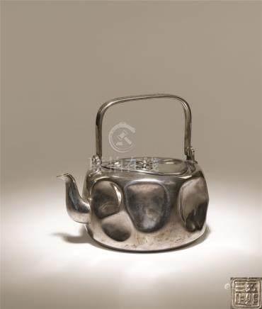 纯银凹打汤沸
