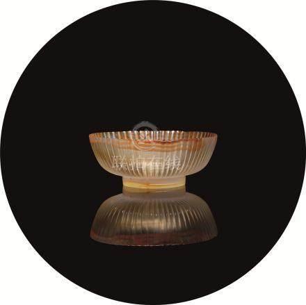 清 玛瑙菊瓣碗