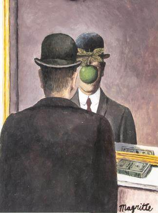 Rene Magritte Belgian Surrealist Gouache & Tempera
