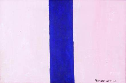 Barnett Newman American Color Field Oil on Canvas