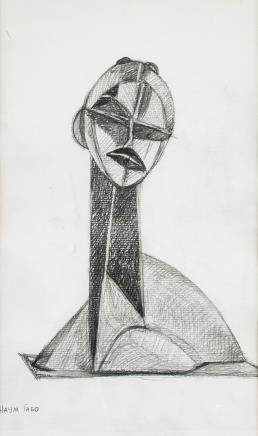 Naum Gabo British-Russian Constructivist Graphite