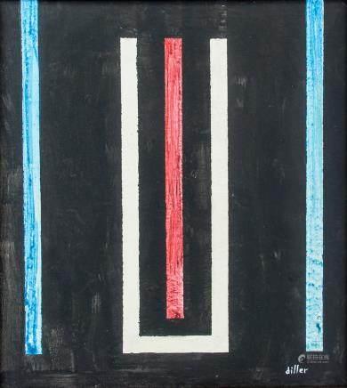 Burgoyne Diller American Abstract Oil on Canvas