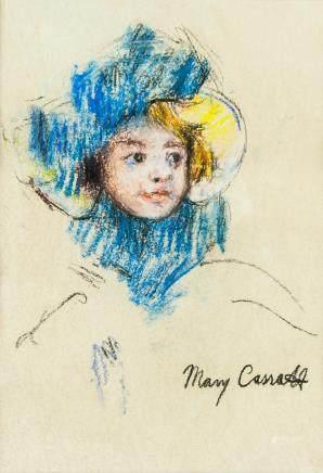Mary Cassatt American Modernist Pastel on Paper
