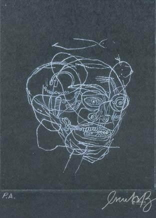 Jean-Michel Basquiat US Pop Art Linocut  PA Signed