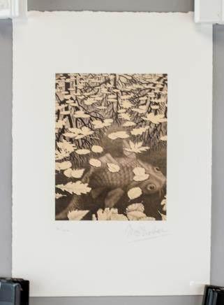 M. C. Escher Dutch School Litho 30/100 Signed