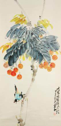 Zhao Shaoang 1905-1998 Chinese Watercolor