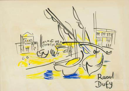 Raoul Dufy French Impressionist Mixed Media