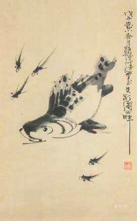 Cheng Shifa 1921-2007 Chinese Watercolour Scroll