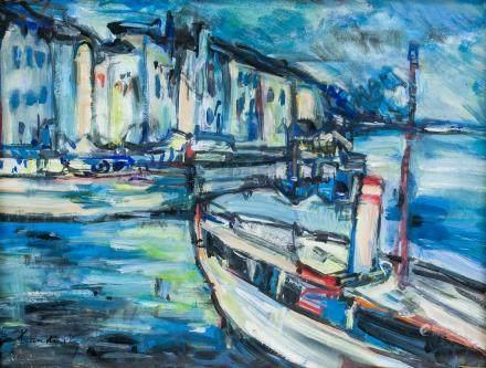 Wassily Kandinsky Russian Abstract Gouache Paper
