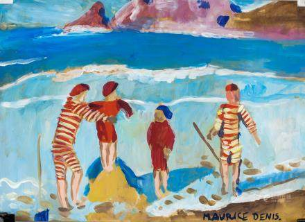 Maurice Denis French Impressionist Oil on Paper