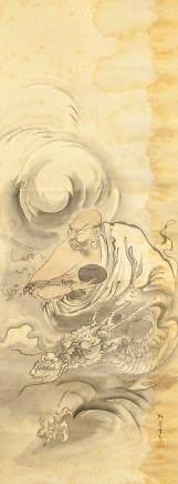 Yanagishima Liu Dao Japanese Watercolor Lohan