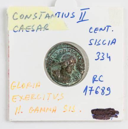 334 AD Rome Constantius II Siscia Bronze Coin