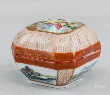 Chinese Famille Rose Porcelain Case Tinsongzhai MK