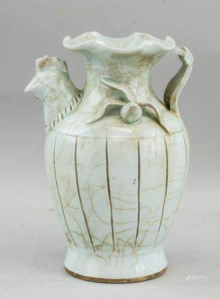 Chinese Yuan Style Porcelain Chicken Head Pot