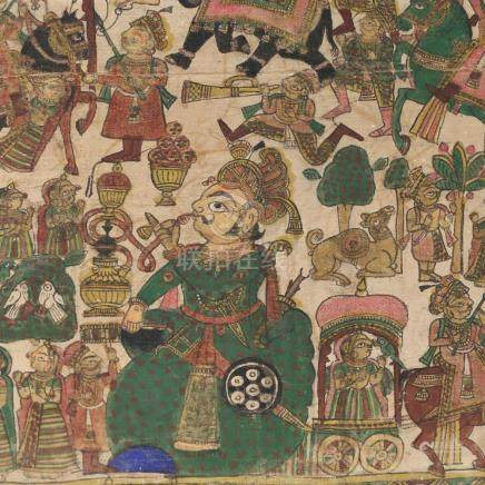 MUGHAL PAINTING ON CANVAS