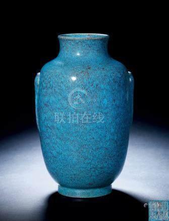 清道光 炉钧釉灯笼瓶