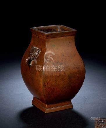 清中期 铜钫