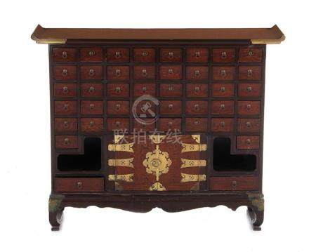 Chinese Export apothecary cabinet