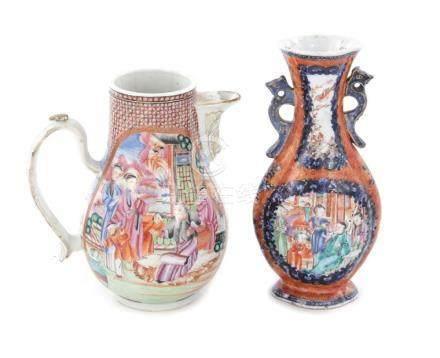 Chinese Export porcelain jug and vase (2pcs)