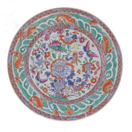 Chinese Export clobber ware porcelain charger