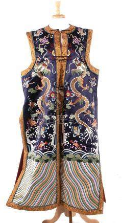 Chinese silk-on-silk embroidered robe