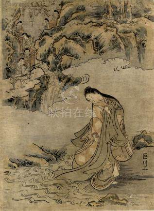 Kyosen, Surimono, die Perlen-Reihe (Chuban 28,5 x 21 cm, dat