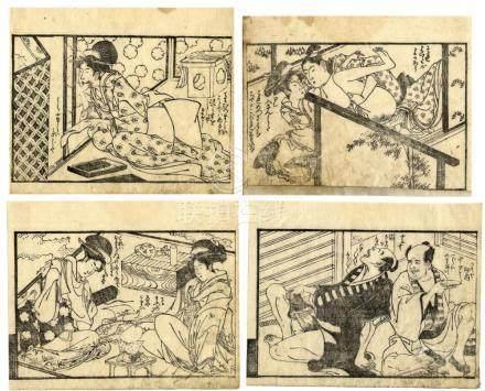 Gabimaru, Gessai, tätig 1789-1810, Liebesspiele (Vier Koban